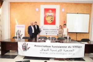 Conférence de lancement de l'ATV Présidente Mme Lamine Myriam en présence de L'AFV, Président Mr Jean-Marie Meurant, Vice Présidente Psychologue clinicienne Mme Martine Carré, et PR Yvon Gauthier