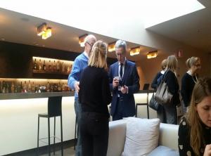 Mme Myriam Lamine avec Mauro Picardo et Pr Yvon Guathier